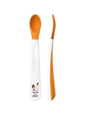 Детские обучающие ложечки Philips Avent SCF710/00 2 шт.. Цвет: белый, оранжевый