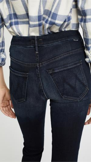 HW Looker Ankle Fray Jeans MOTHER