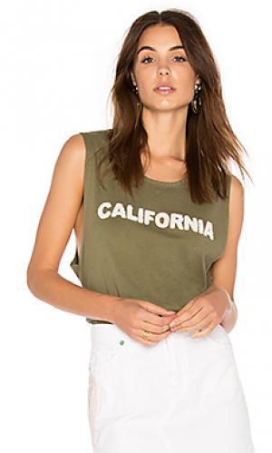 Майка-борцовка california Sandrine Rose. Цвет: военный стиль