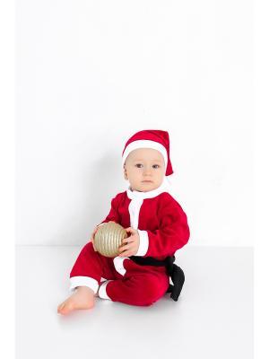 Карнавальный костюм Новый год MilleFaMille. Цвет: бордовый, белый