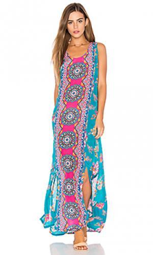 Платье kendall Tolani. Цвет: синий