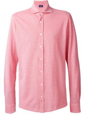 Рубашка из пике Barba. Цвет: красный