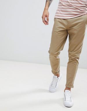 Burton Menswear Светло-коричневые суженные книзу чиносы. Цвет: рыжий
