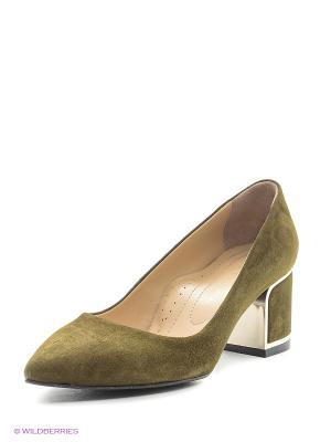 Туфли ALLORA. Цвет: зеленый