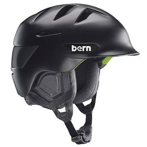 Шлем для сноуборда  Snow Zipmold Rollins Matte Black/Black Liner Bern. Цвет: черный