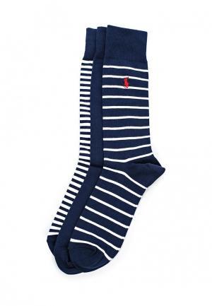 Комплект носков 3 пары Polo Ralph Lauren. Цвет: синий