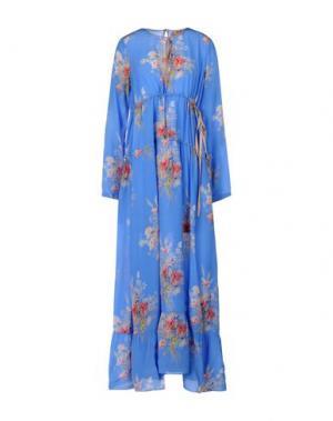 Длинное платье N° 21. Цвет: лазурный
