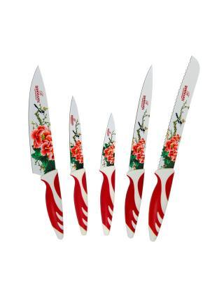 Набор ножей из 5 предметов BOHMANN. Цвет: красный