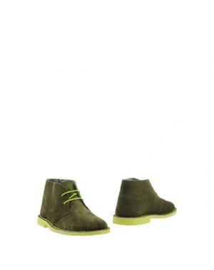 Полусапоги и высокие ботинки BORGO MEDICEO. Цвет: зеленый-милитари