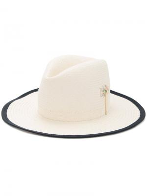 Шляпа с широкими полями Nick Fouquet. Цвет: белый