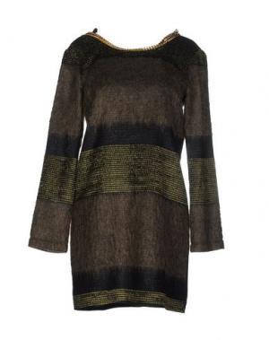 Короткое платье ELLA LUNA. Цвет: зеленый-милитари
