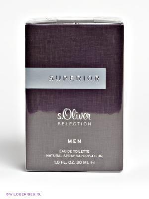 Туалетная вода S.oliver Superior Man, 30 мл. Цвет: черный (осн.)