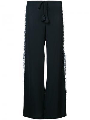 Широкие брюки Simone Figue. Цвет: синий