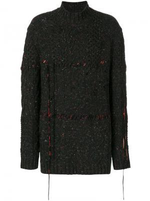 Фактурный свитер свободного кроя Damir Doma. Цвет: многоцветный
