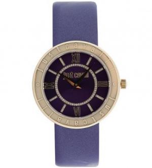 Часы с фиолетовым лаковым ремешком Just Cavalli