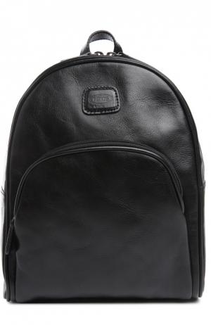 Кожаный рюкзак Life Pelle Bric`s. Цвет: черный