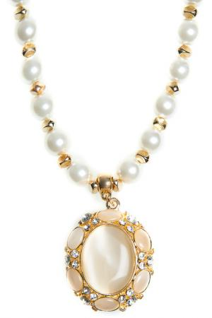 Pendant with chain BELLA ROSA. Цвет: gold, white