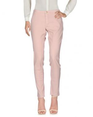 Повседневные брюки NO LAB. Цвет: телесный