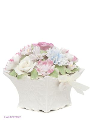 Музыкальная композиция Цветы Pavone. Цвет: молочный, розовый, зеленый