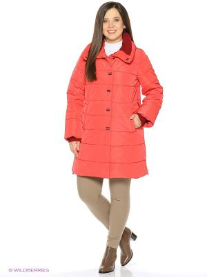Стеганое пальто Electrastyle. Цвет: красный