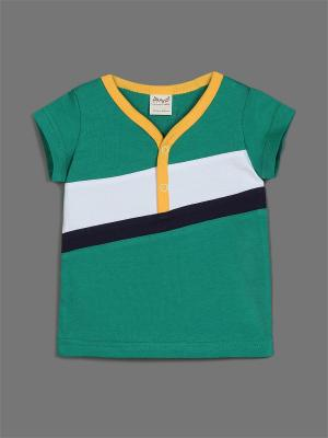 Футболка ЕМАЕ. Цвет: зеленый