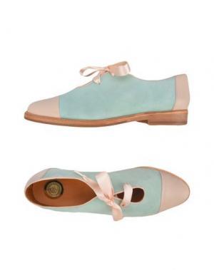 Обувь на шнурках MAISON SHOESHIBAR. Цвет: светло-зеленый