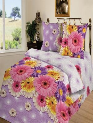Комплект постельного белья тк.Бязь Юнона Шоколад. Цвет: розовый, сиреневый
