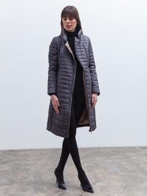 Пальто Clasna. Цвет: темно-серый