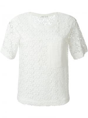 Топ с вышивкой A.L.C.. Цвет: белый