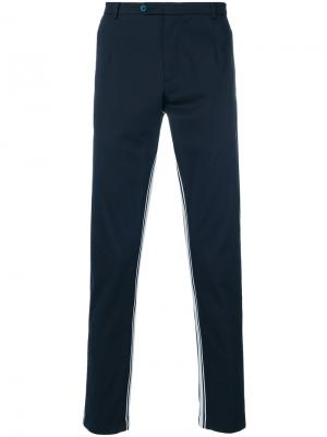 Брюки с полосками по бокам Dolce & Gabbana. Цвет: синий