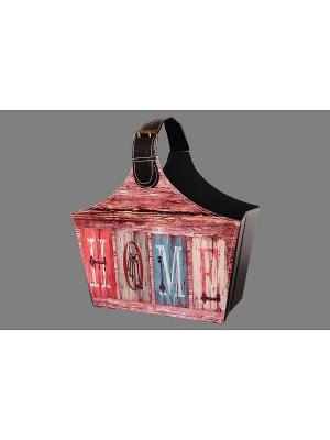 Газетница складная Винтаж EL CASA. Цвет: коричневый, голубой, розовый