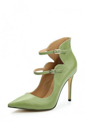 Туфли Hestrend. Цвет: зеленый