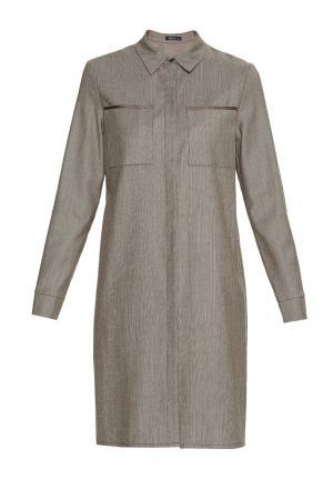 Платье из шерсти BR-181741 Burlo. Цвет: коричневый