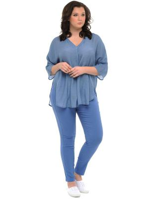 Блузка SVESTA. Цвет: синий, серый