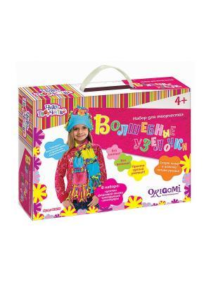 Чудо -Творчество. Сделай Сам Волшебные узелки: Шапка и шарф. Чудо-творчество. Цвет: голубой, розовый, желтый