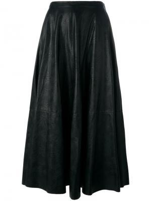 Плиссированная юбка Mm6 Maison Margiela. Цвет: чёрный