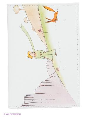 Обложка для паспорта Mitya Veselkov. Цвет: белый, светло-зеленый, сиреневый