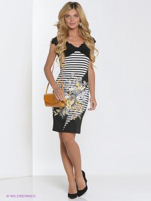 Платье Hammond. Цвет: черный, белый, желтый