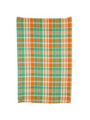 Набор Полотенец вафельных пестротканых 45x70 Авангард. Цвет: зеленый,оранжевый