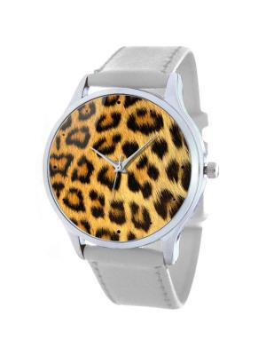 Дизайнерские часы Леопард Tina Bolotina. Цвет: оранжевый, белый