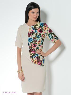 Платье D`imma. Цвет: светло-бежевый