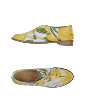 Обувь на шнурках F-TROUPE. Цвет: желтый