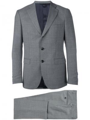 Классический костюм-двойка Tonello. Цвет: серый