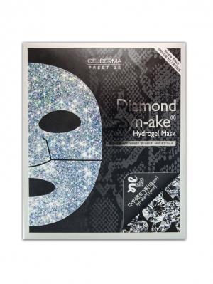 Гидрогелевая маска Сel-Derma Prestige Diamond and Synake 32 гр.*4 шт.. Цвет: черный, серебристый, серый