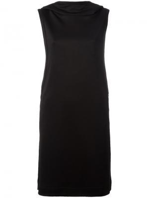 Платье без рукавов с капюшоном Y-3. Цвет: чёрный