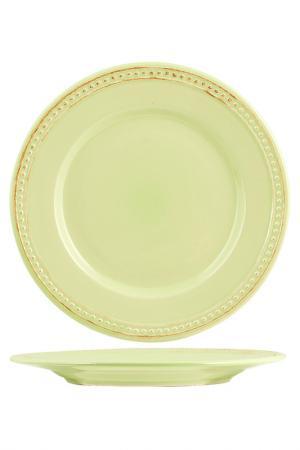 Тарелки обеденные 27 см 6 шт. H&H. Цвет: салатовый