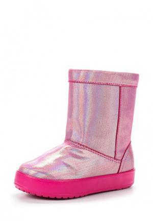 Полусапоги Crocs. Цвет: розовый