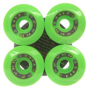 Колеса для скейтборда лонгборда  Zfx Wheels Green 90A 60 mm Z-Flex. Цвет: зеленый