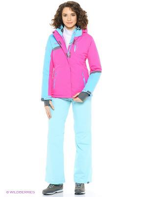 Куртка High Experience. Цвет: голубой, розовый