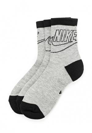 Комплект носков 3 пары Nike. Цвет: серый